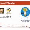 2V SERVICES reçoit le prix CJ2e de l'entreprise en Développement