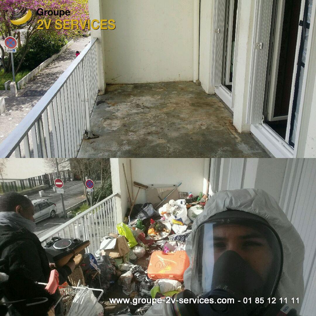 Debarras et désinfection balcon diogène en Seine-et-Marne