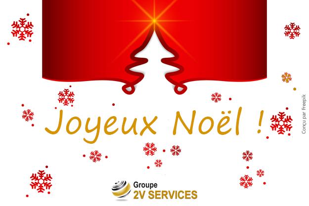Le Groupe 2V SERVICES vous souhaite un Joyeux Noël !