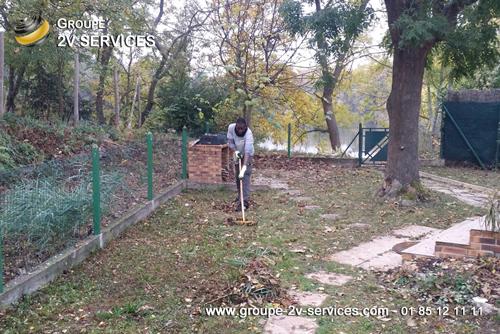 Nettoyage et mise au propre du jardin