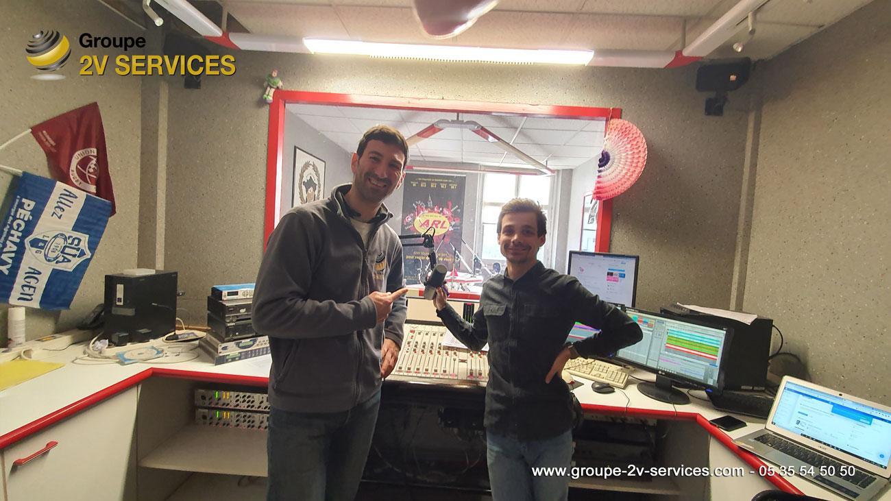 Rencontre avec Jérome lors de la visite des coulissses et studios de la radio ARL à Langon