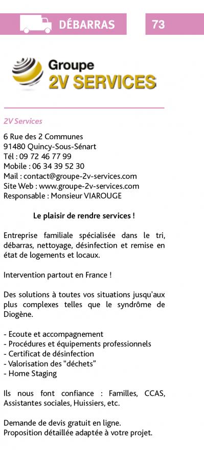 Article 2v services - Partenaire des Notaires - Catégorie Débarras Désinfection logement