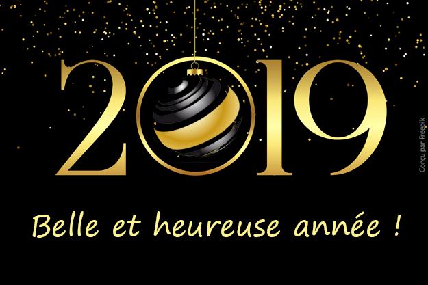 Bonne annee 2019 groupe 2v services