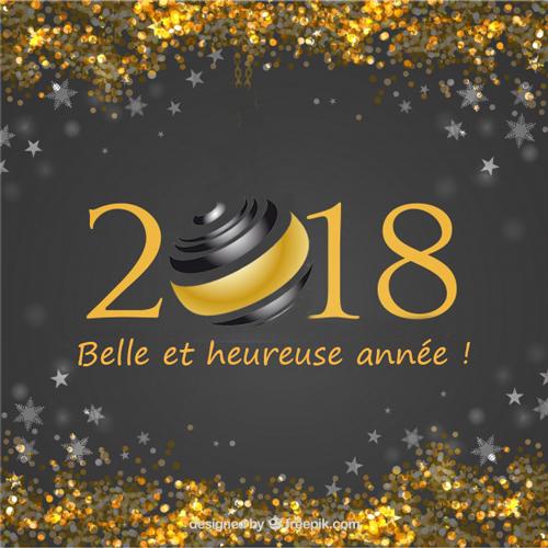 Bonne année 2018 avec le Groupe 2V SERVICES