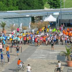 Le départ de la marche de 5km