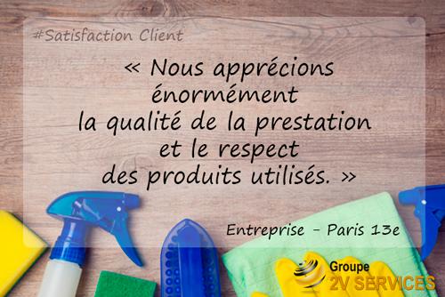 Entreprise qualite prestation nettoyage produits environnement
