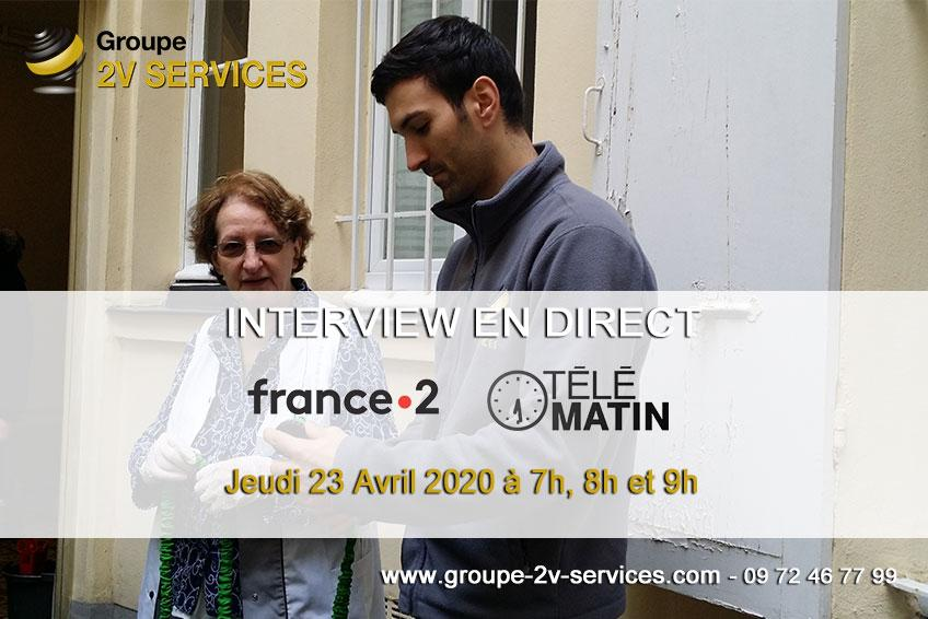 Interview collaborateurs direct france2 telematin