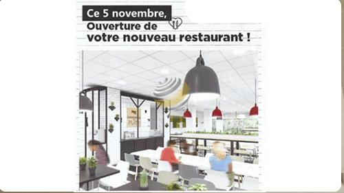 Réouverture du restaurant d'entreprise