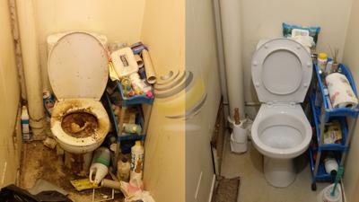 AVANT/APRES : Les toilettes